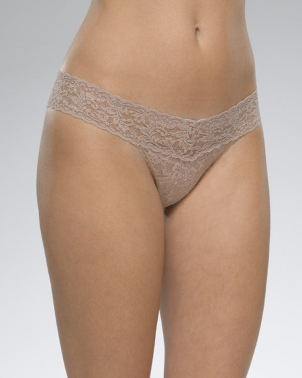 Low Rise Thong - Taupe