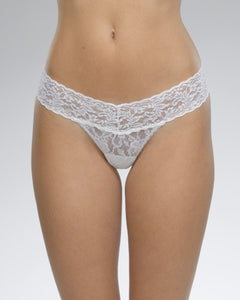 Low Rise Thong - White