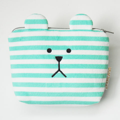 AS904-H	Alphabet Sloth H Cosmetic Pouch