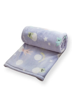 C3057-6  80's Blue Snow Ball Blanket 70 x 100