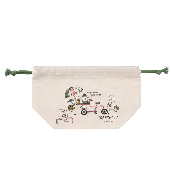 C4357-1  Craft Loris Coffee Draw String Bag
