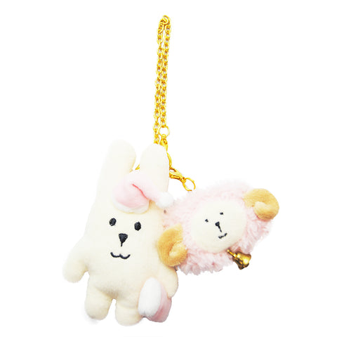 C760-10  Sheep Craft Strap Rab  Keychain