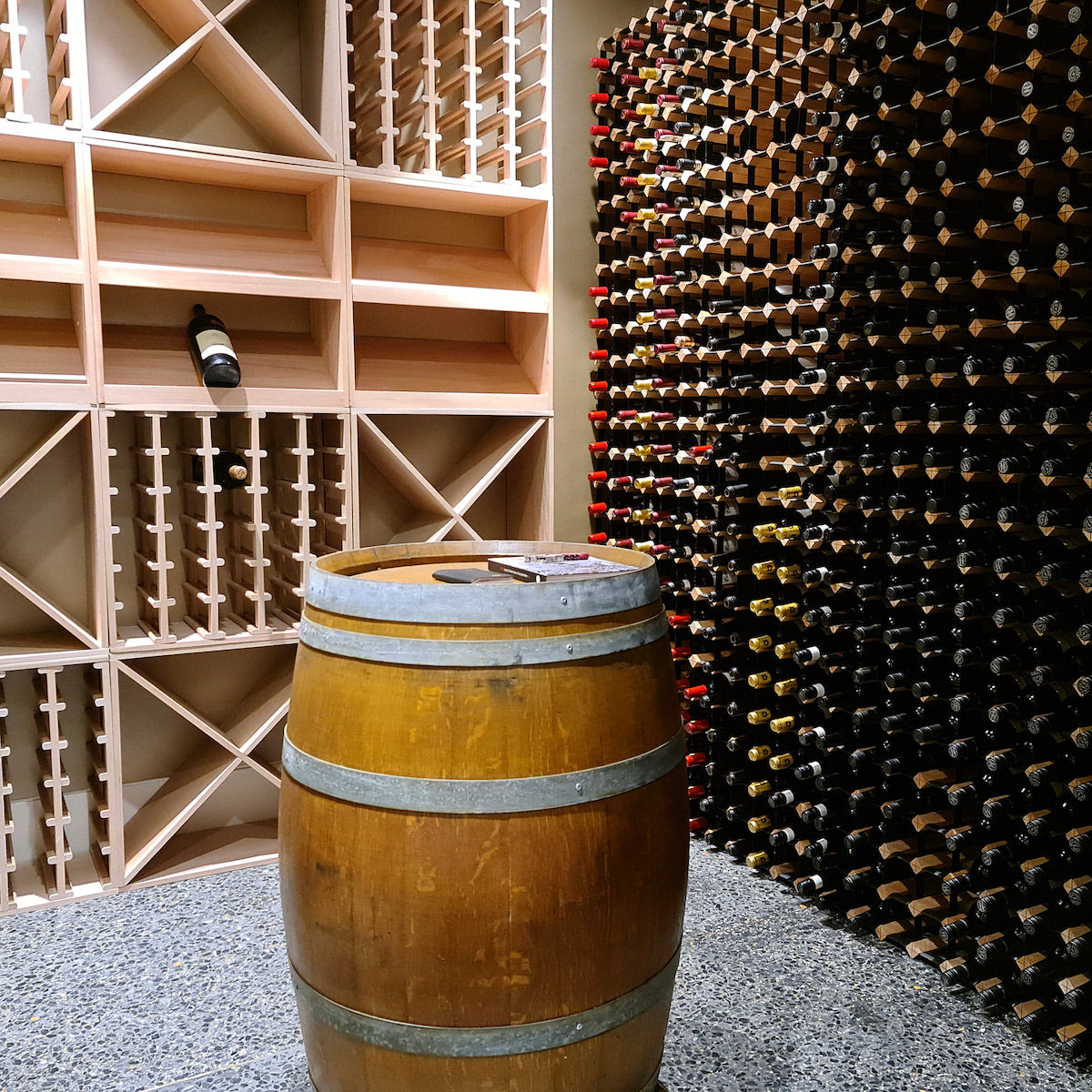 Custom Designed Wine Cellars by Wine Stash. Huge variety of options, customisable to your exact specifications.