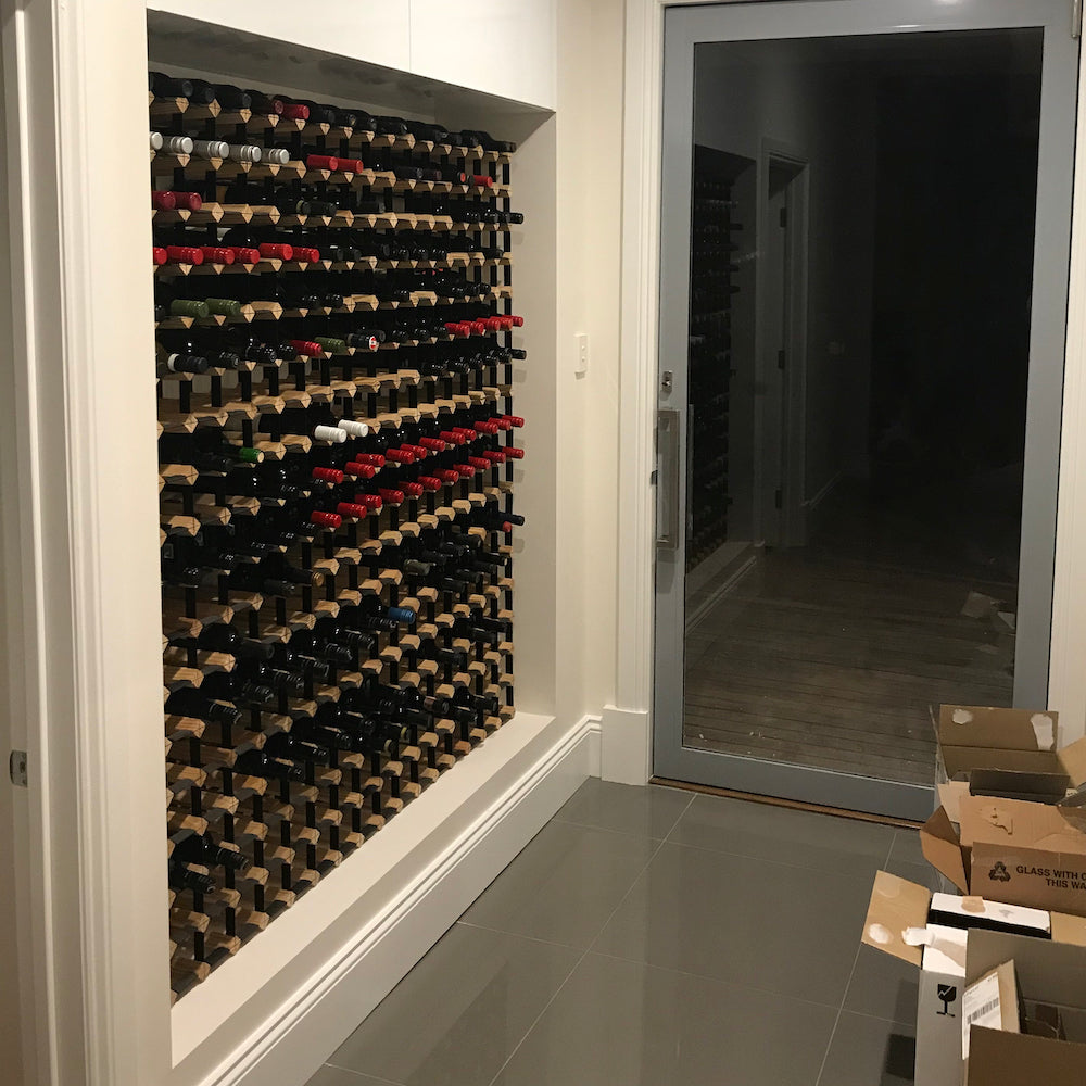 Custom Built Wine Racking at Wine Stash