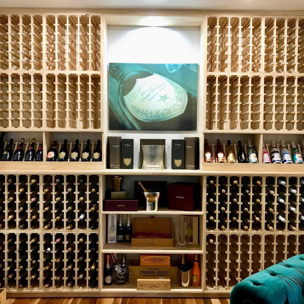 Customisable Wine Cellars - Featuring Dom Perignon Champagne
