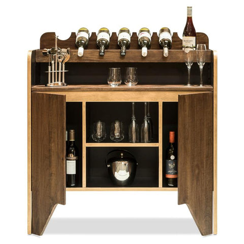 Milano Wine Cabinet with Bottle Holders