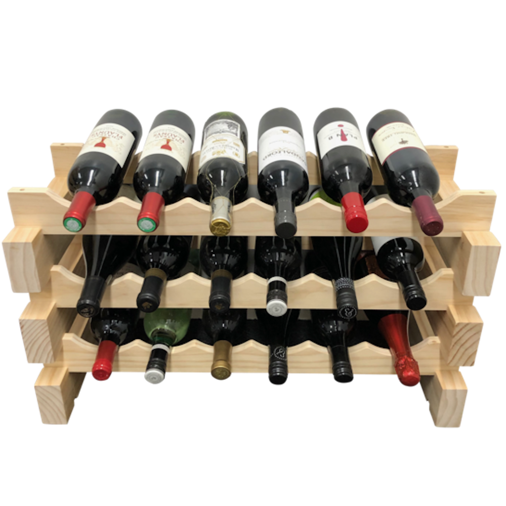 The Modular Collection of extendable wine racks from wine stash