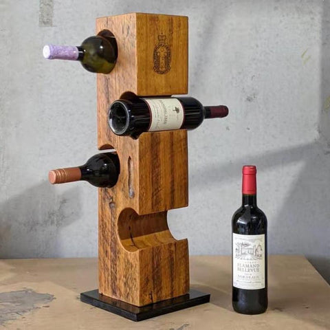 Wine Tower and Wine Bottle