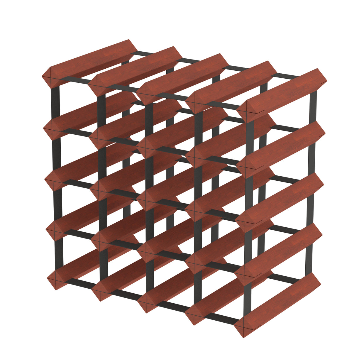 Custom Built Wine Racks - Dark Mahogany Finish