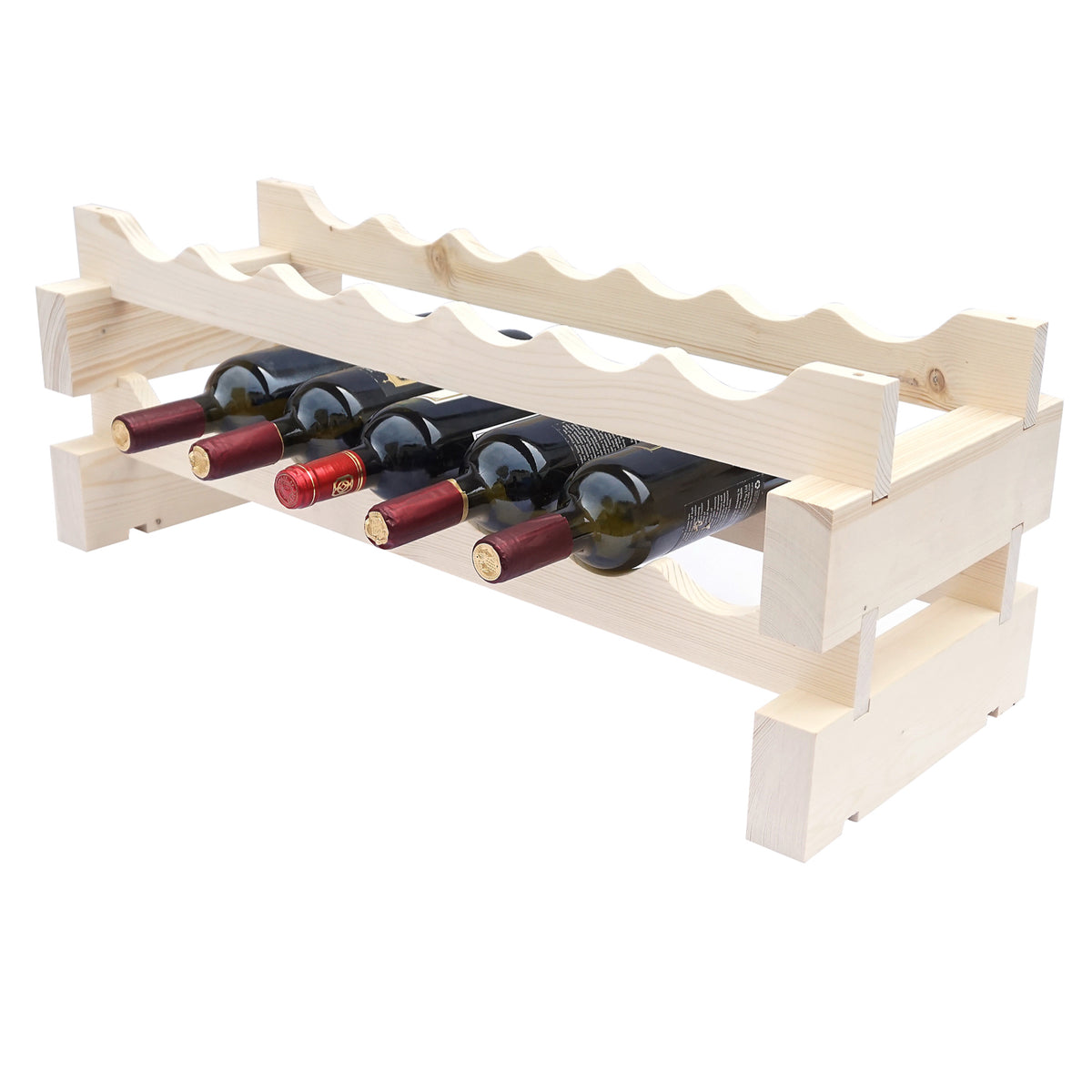 14 Bottle Modular Wine Rack