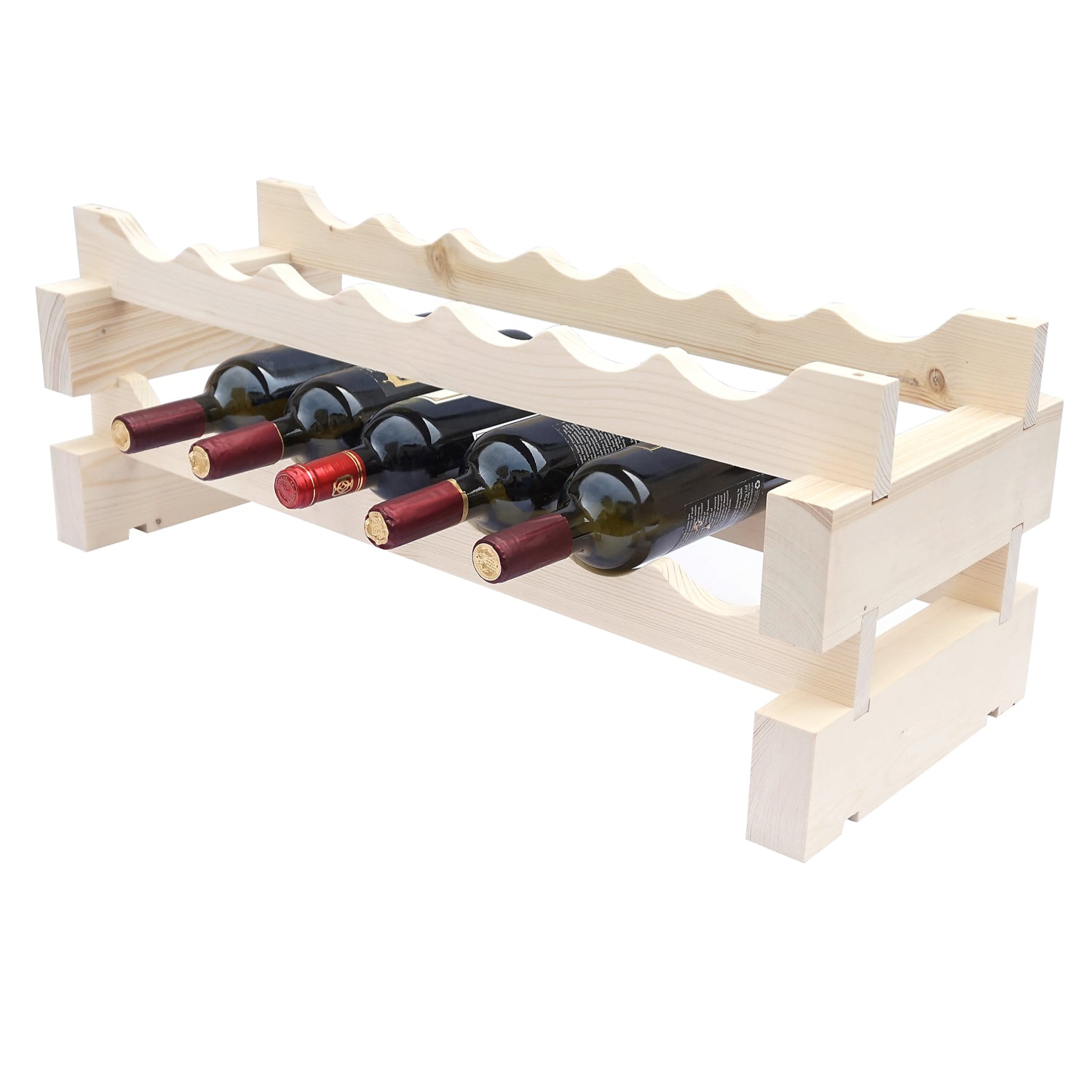 7 Bottle Modular Wine Rack