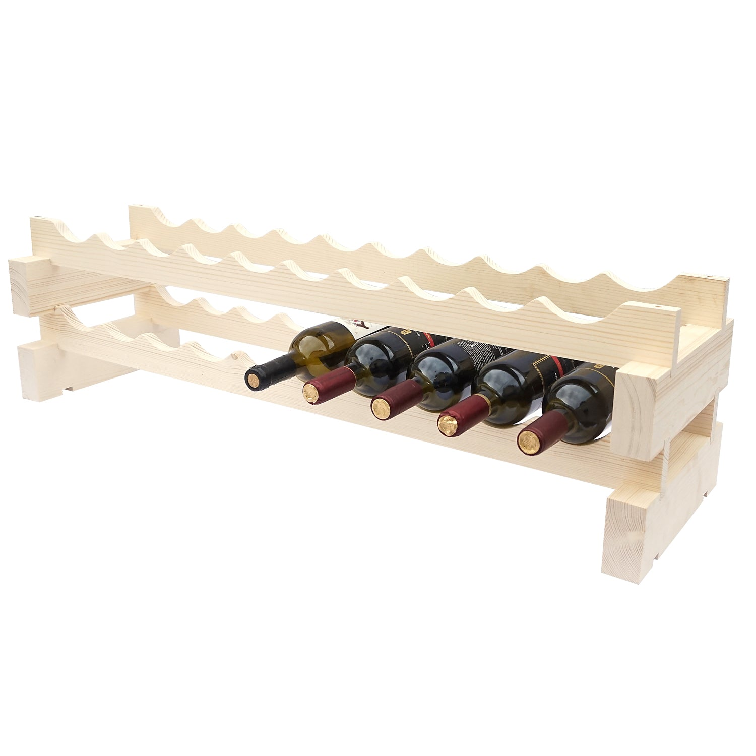 20 Bottle Modular Wine Rack