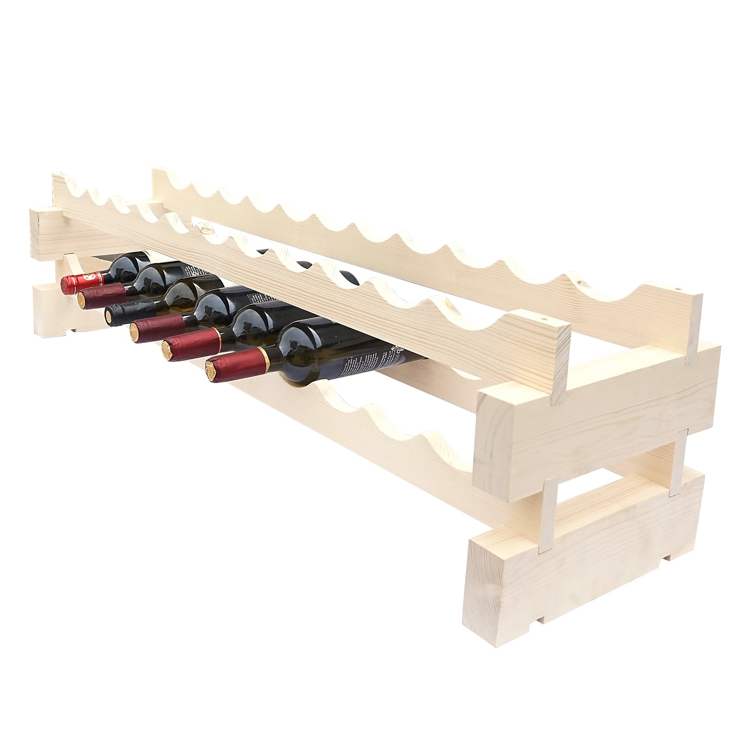 11 Bottle Modular Wine Rack