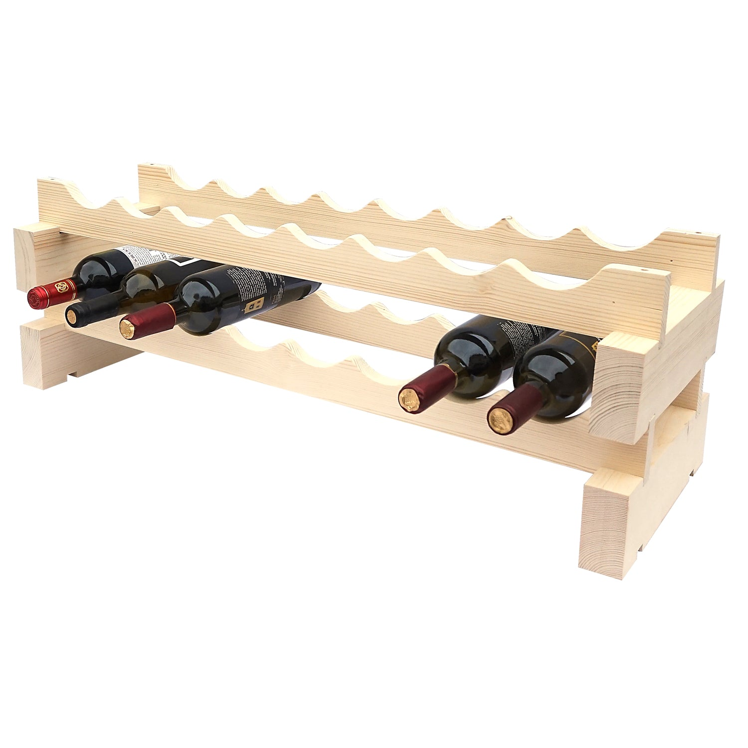 16 Bottle Modular Wine Rack