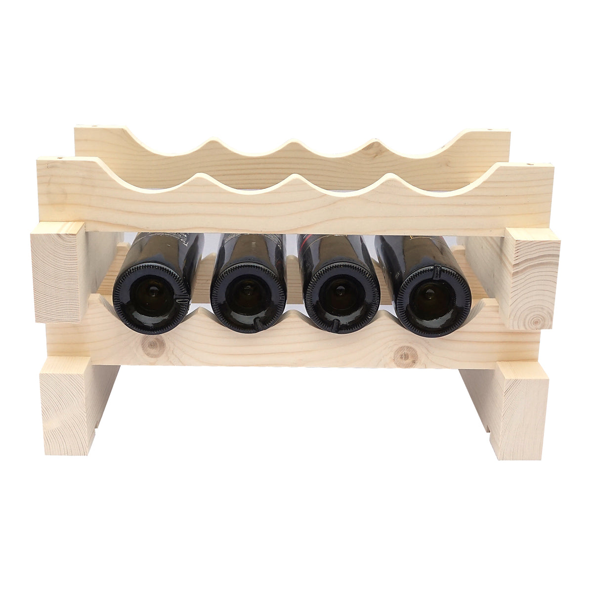 8 Bottle Modular Wine Rack - 1