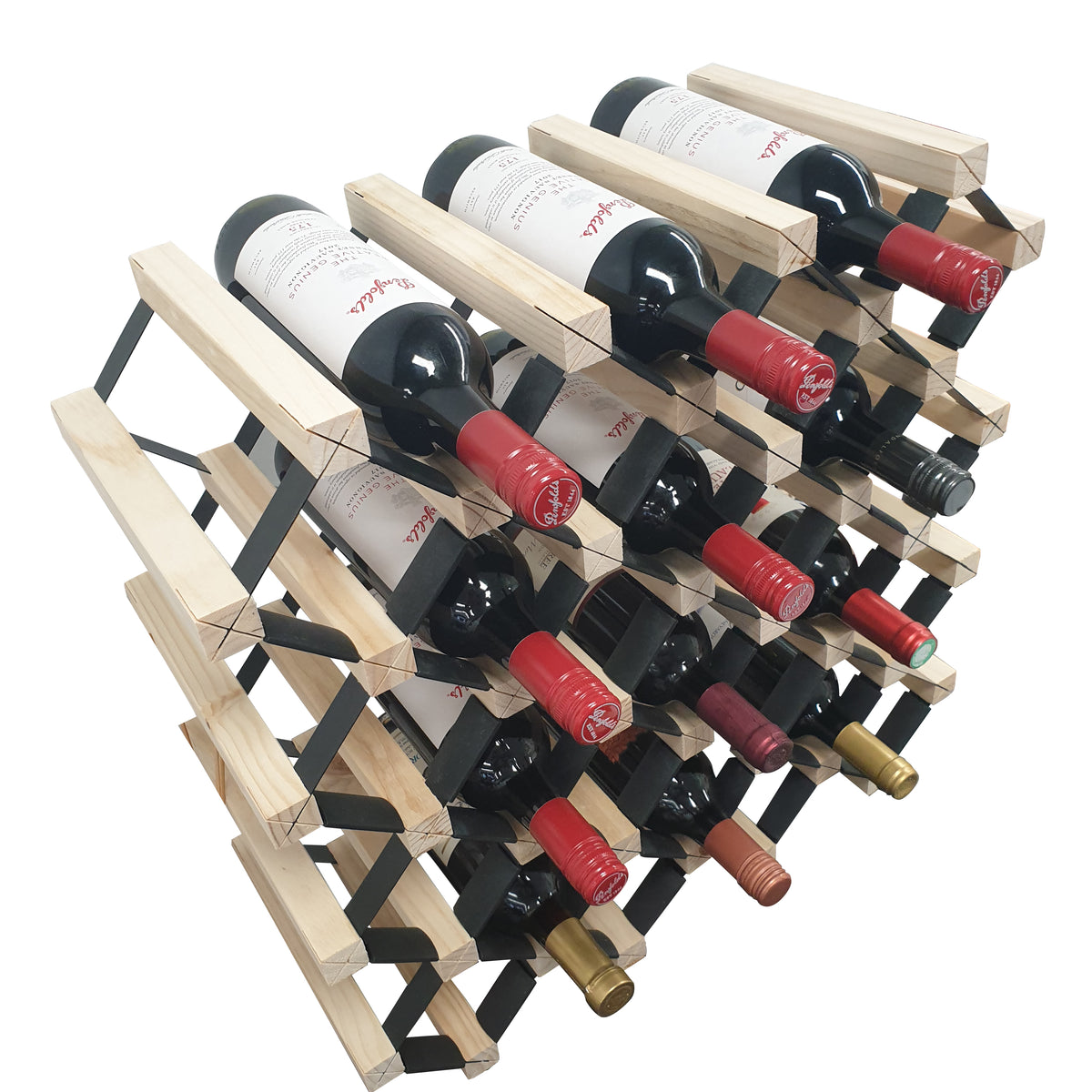 Sloped Timber Wine Rack