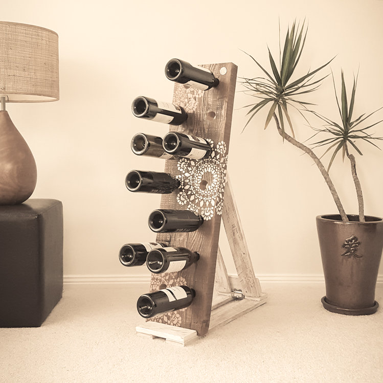 Stencil Affair Wine Rack