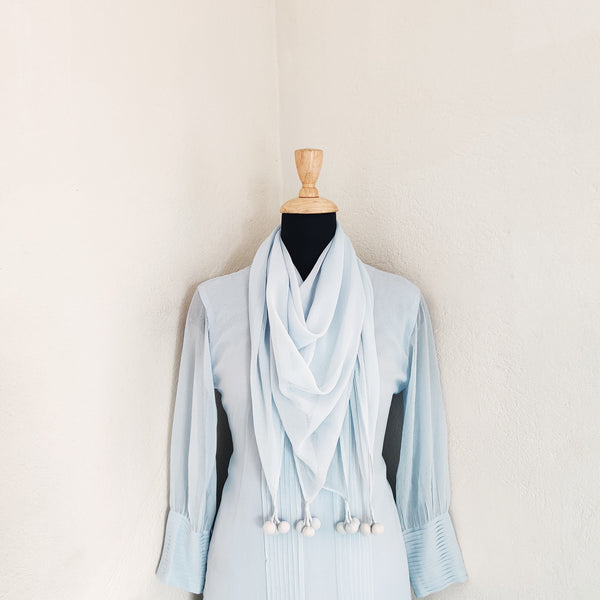 Vidya powder blue with palazzo