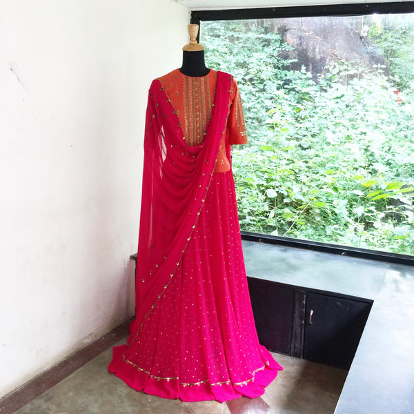 Lehenga - anarkali - milk design shop