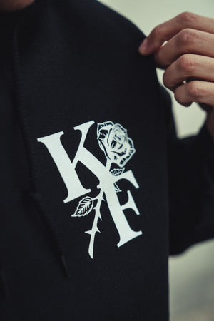 KF ROSE HOODY (black)