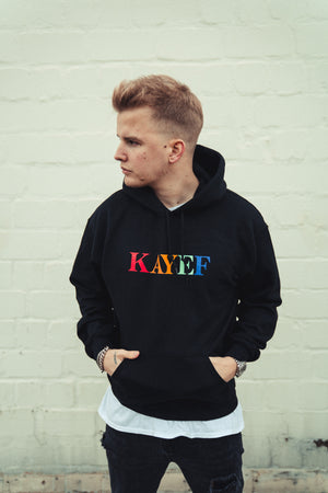 KAYEF RAINBOW HOODY (black)