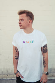 KAYEF RAINBOW PASTELL SHIRT (white)