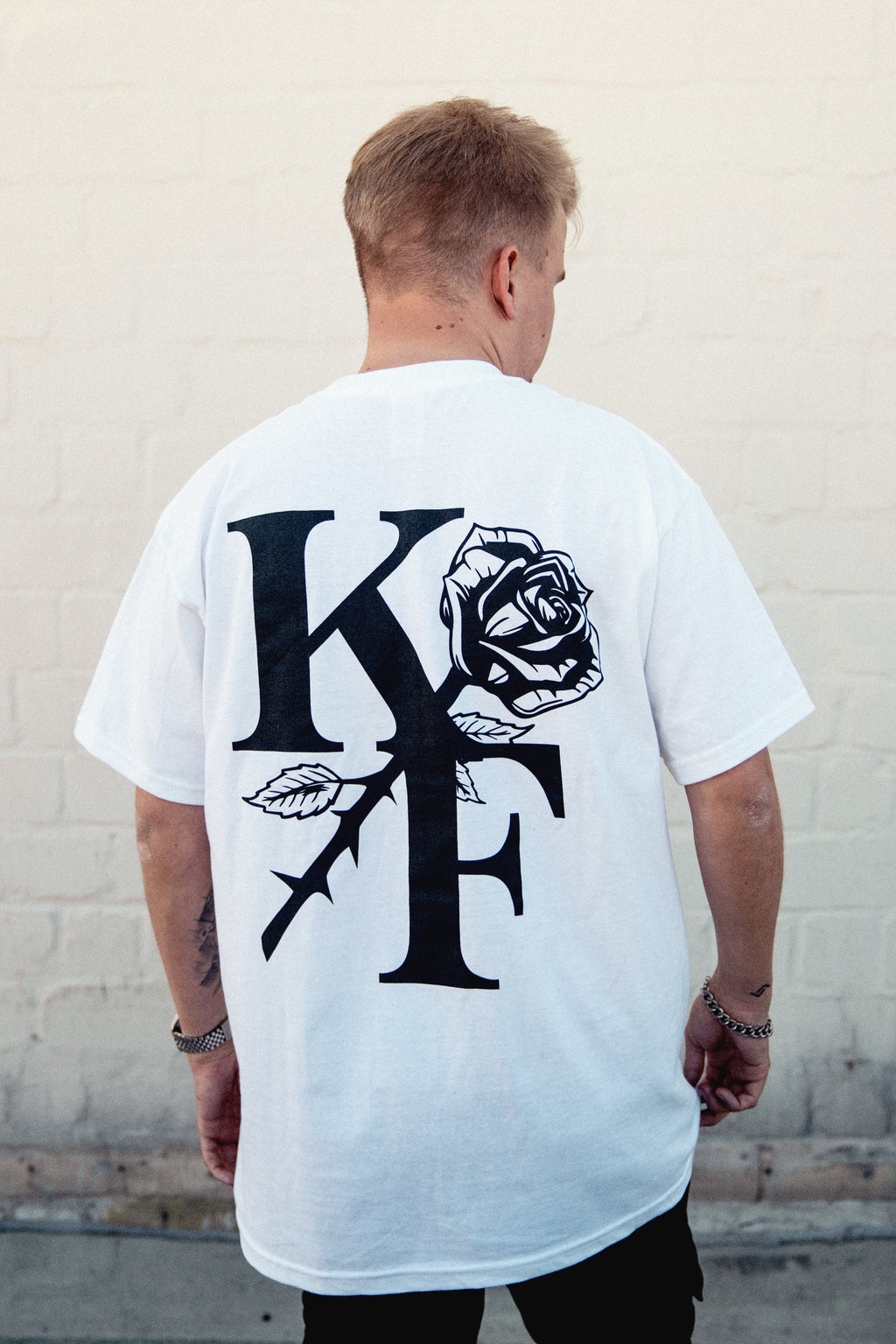 KF ROSE SHIRT (white)