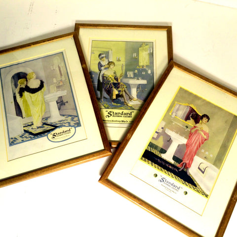 Rare Art Deco bathroom prints
