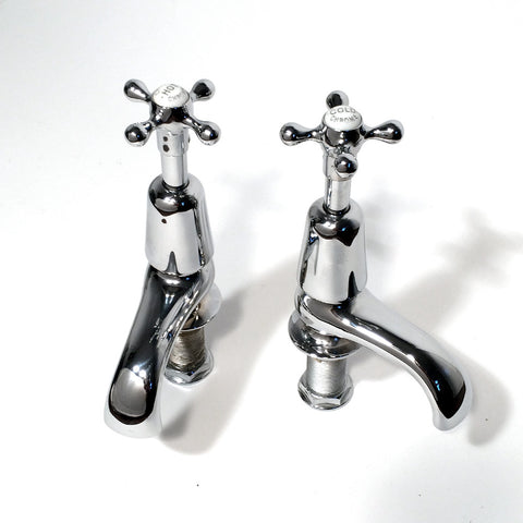 Large Edwardian bath taps