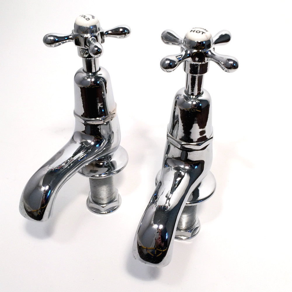 Edwardian Shanks Bath Taps