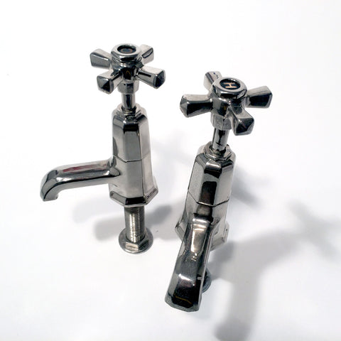 Art Deco basin taps