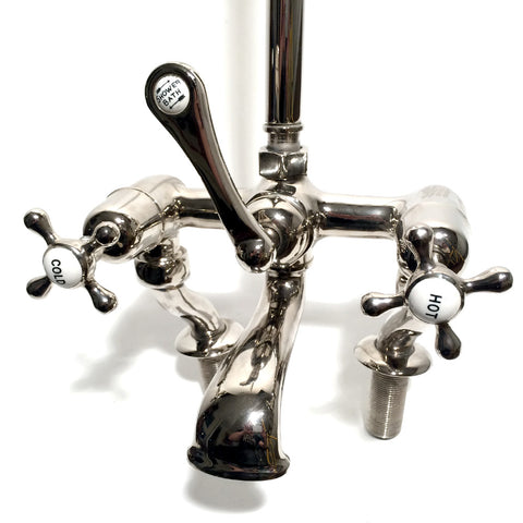 Edwardian fixed riser bath shower mixer