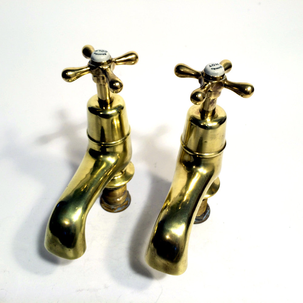Huge Edwardian Shanks  bath taps