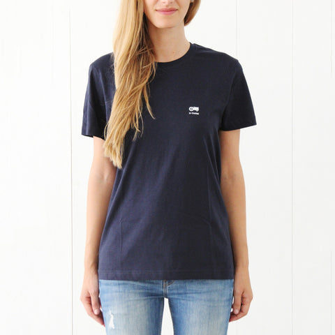 T-SHIRT blue basic - Logo
