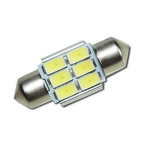 31MM 269 6 LED Super High Power CANBUS Festoon Bulb (300 Lumens) - Aurora Bulbs