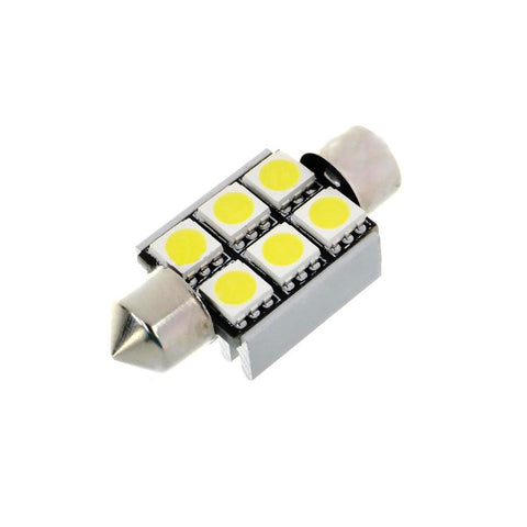 36MM 6 LED CANBUS Festoon Bulb - Aurora Bulbs