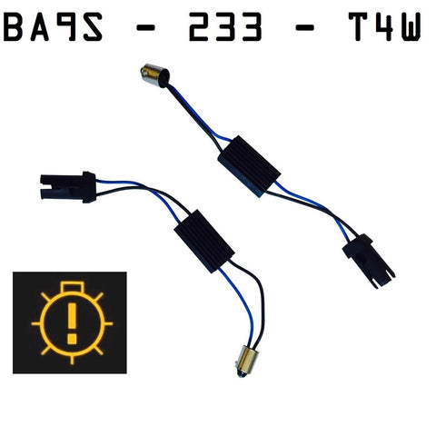 BA9S/233/T4W CANBUS Warning Error Module Adaptor Kit - Aurora Bulbs