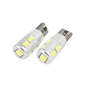 CANBUS T10/501/W5W 10 LED 360° Bulbs Super High Power Pair (500 Lumens) - Aurora Bulbs