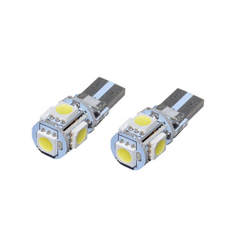 CANBUS T10/501/W5W 5 LED 360° Bulbs (Pair) - Aurora Bulbs