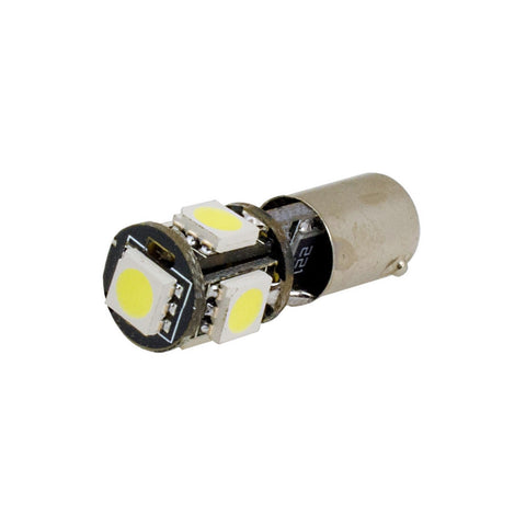 CANBUS BAX9S/433/H6W 5 LED 360° Bulbs (Pair) - Aurora Bulbs