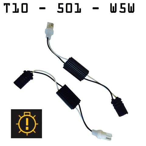 T10/501/W5W CANBUS Warning Error Module Adaptor Kit - Aurora Bulbs