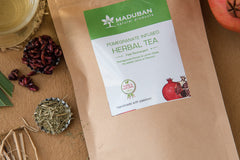 Chemical free herbal tea rich in pomegranate antioxidants