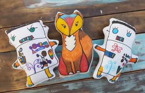 make your own soft toy with fabric markers - kids craft activity