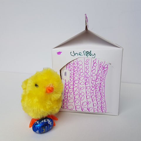 chick house from milk carton easter craft