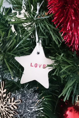 diy handmade clay Christmas Decoration ornament