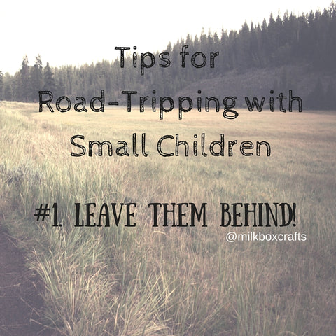 Tips road trips camping with small children
