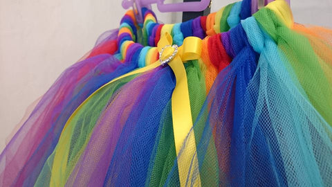 how to make your own rainbow fairy tutu skirt