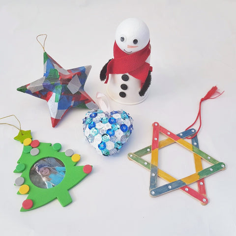 milkbox christmas decoration craft kit box