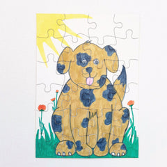 make your own jigsaw puzzle kids craft