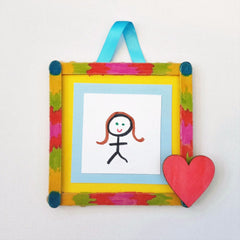 diy popstick frame craft kit for kids
